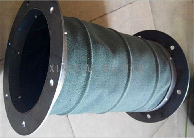 Round square soft fireproof fabric expansion joint