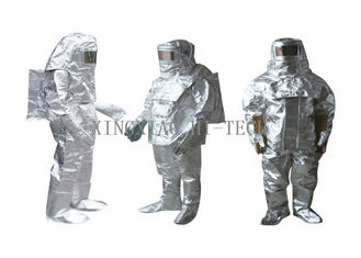 Good Quality Fireproof Fiberglass Fabric & High Temperature Aluminized Fire Proximity Protective Clothing Suit Thermal Insulation on sale