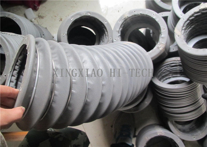 Grey fabric expansion joint bellows flexible