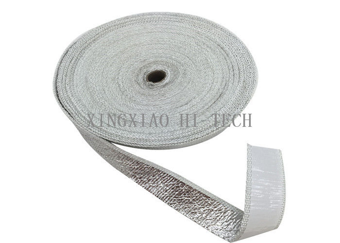 Heat proof aluminum foil fiberglass adhesive tape for Fiberglass thermal insulation