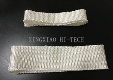 China 1000 - 1200℃ Fireproof Fiberglass Tape Fabric High Silica Thermal Insulation factory
