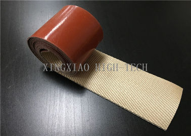 China Waterproof High Performance Silica Fabrics , Silicone Rubber Coated Fiberglass Cloth factory