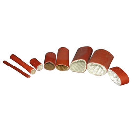 Fireproof Thermal Heat Insulation Sleeve , Silicone Coated Fiberglass Sleeving