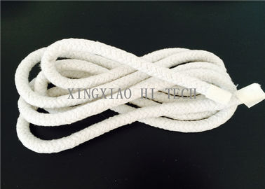 China Wall Braided Ceramic Fiber Heat Resistant Insulation Rope High Temperature 6 - 50mm factory