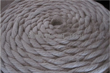China Heat Insulation Ceramic Fiber , Ceramic Fiber Fiberglass Rope Gasket Material factory