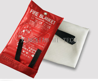 White / Brown Color Emergency Fire Blanket , Anti - Corrosion Fire Extinguisher Blanket