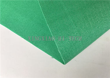 Green Silicone Coated Fiberglass Fabric 0.85mm Thick 1000 / 1200 / 1500mm Wide