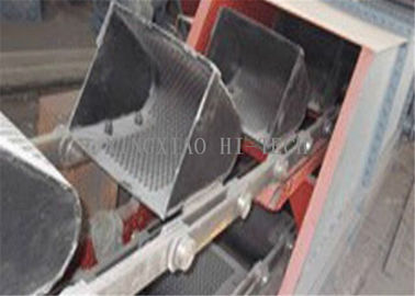Black Bucket / Bag Type Elevator Conveyor Belt Width 500 - 1800mm ROHS Approval